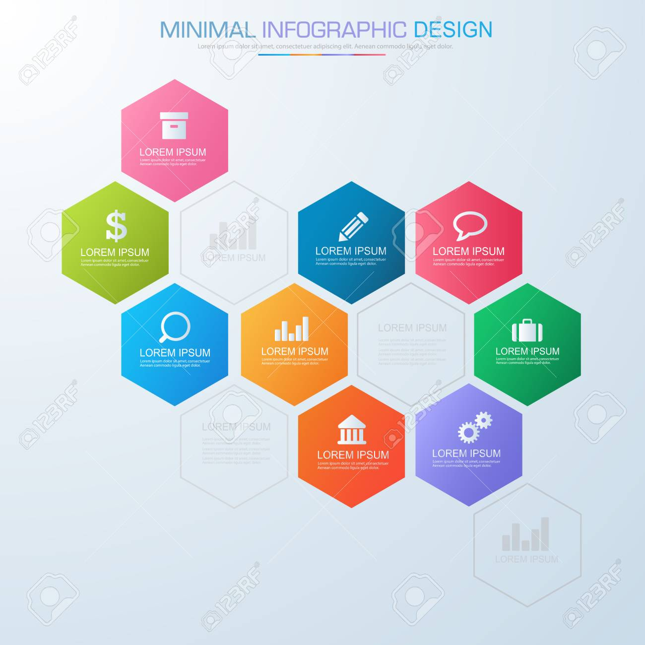 Infographic elements with business icon on full color background banco de imagens infographic elements with business icon on full color background process or steps and options workflow diagramsvector design element ccuart Image collections