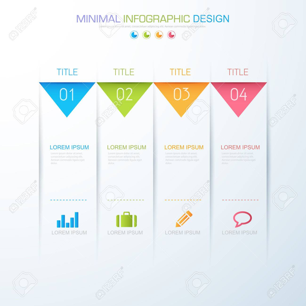 Infographic elements with business icon on full color background imagens infographic elements with business icon on full color background process or steps and options workflow diagramsvector design element eps10 ccuart Image collections