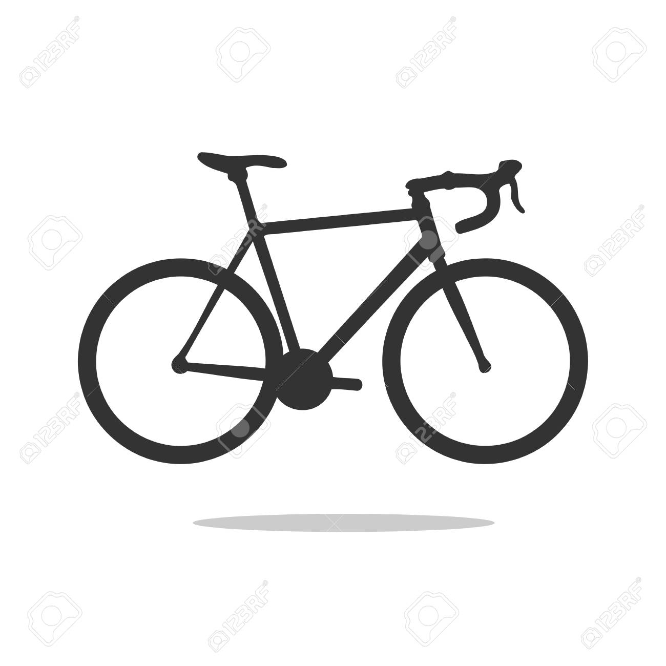 road bike silhouette, detailed vector illustration. vector road bicycle icon. - 97404739