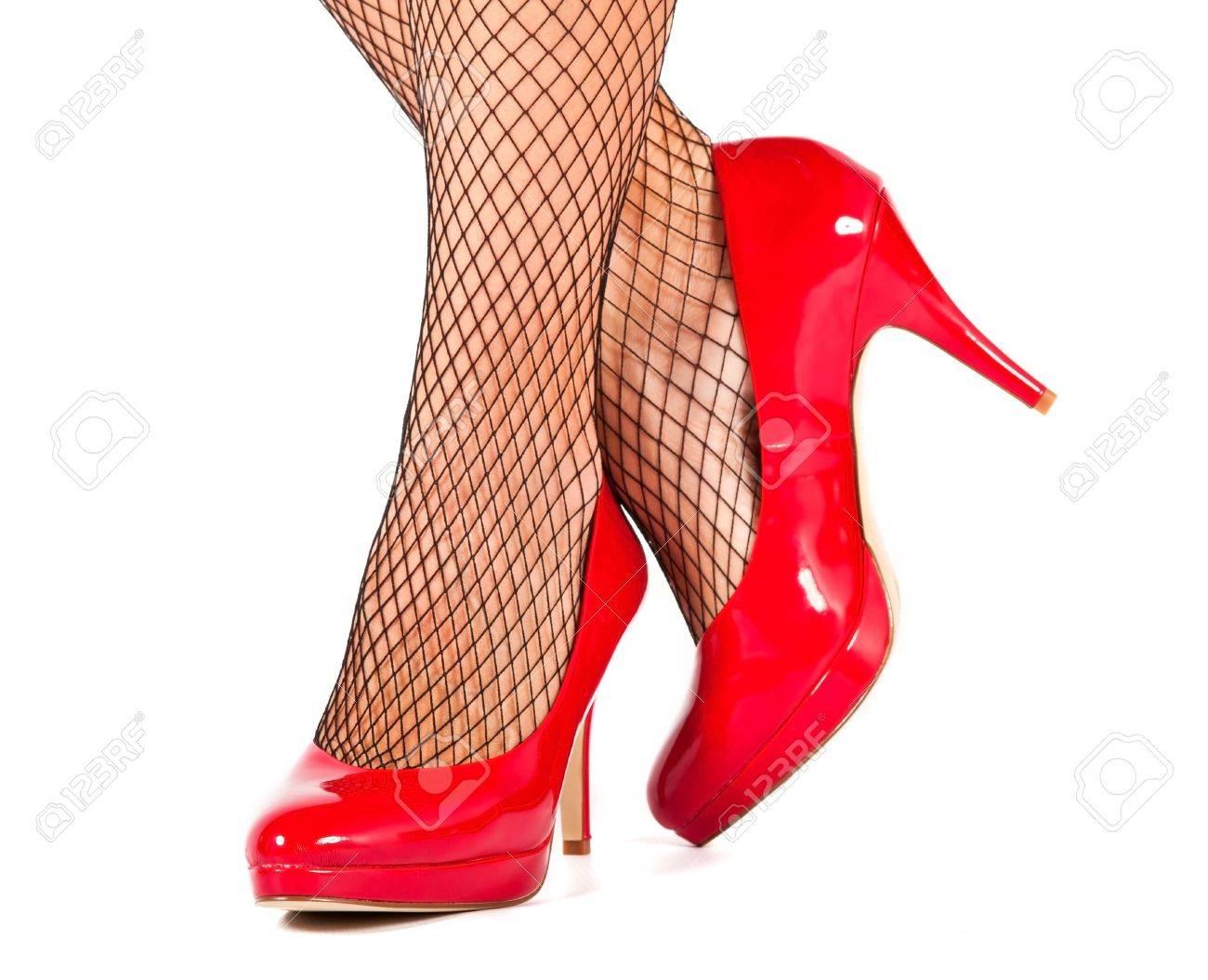 Close Bas Noirs De Rouges Haute Des Résille Chaussures Up Avec Colline rBdxoWCe