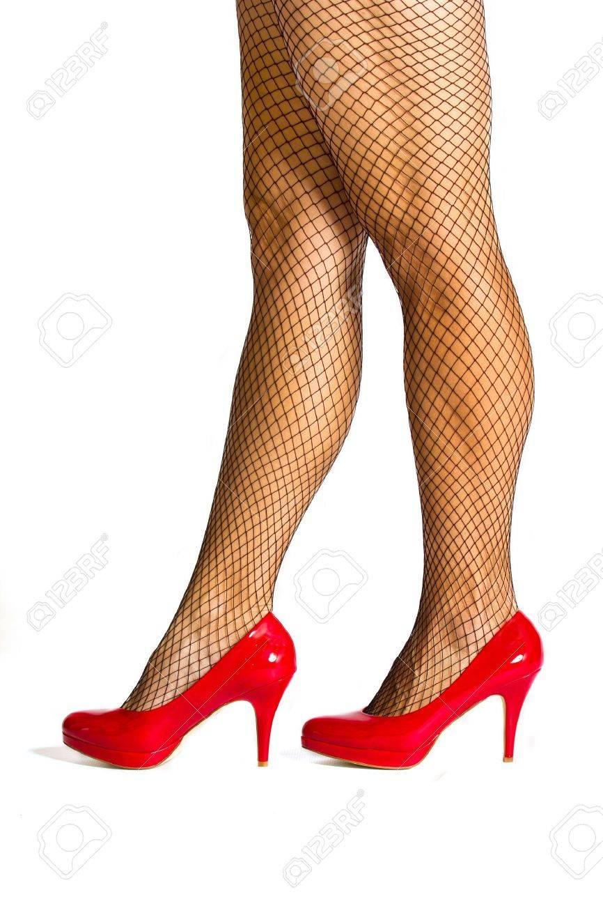 Zapatos Red De Rojos Con Negras Alta Fotos Medias Montaña araZwq