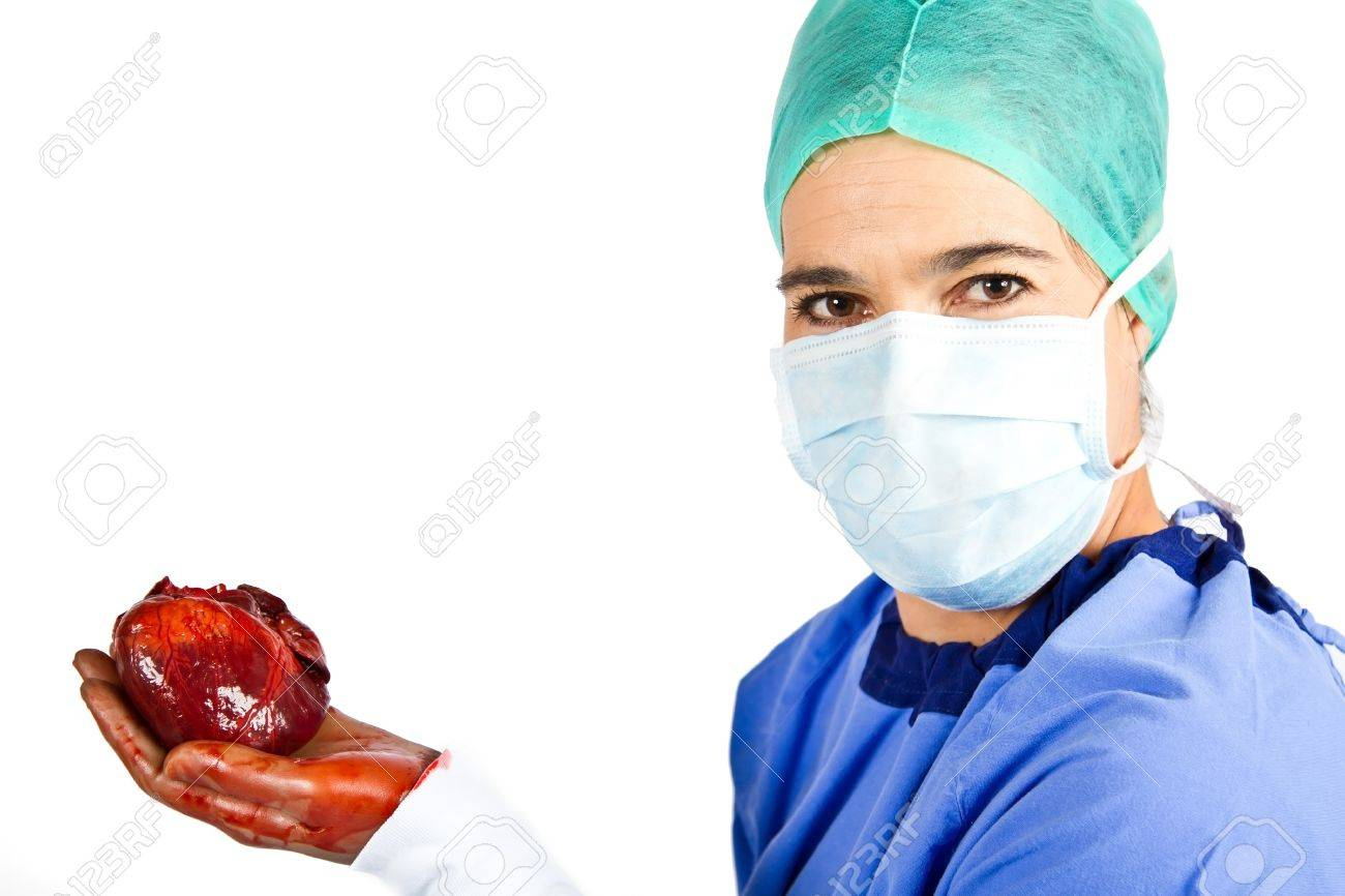Unhealthy Heart Being Removed By A Female Cardiac Surgeon Stock Photo Picture And Royalty Free Image Image 16486014