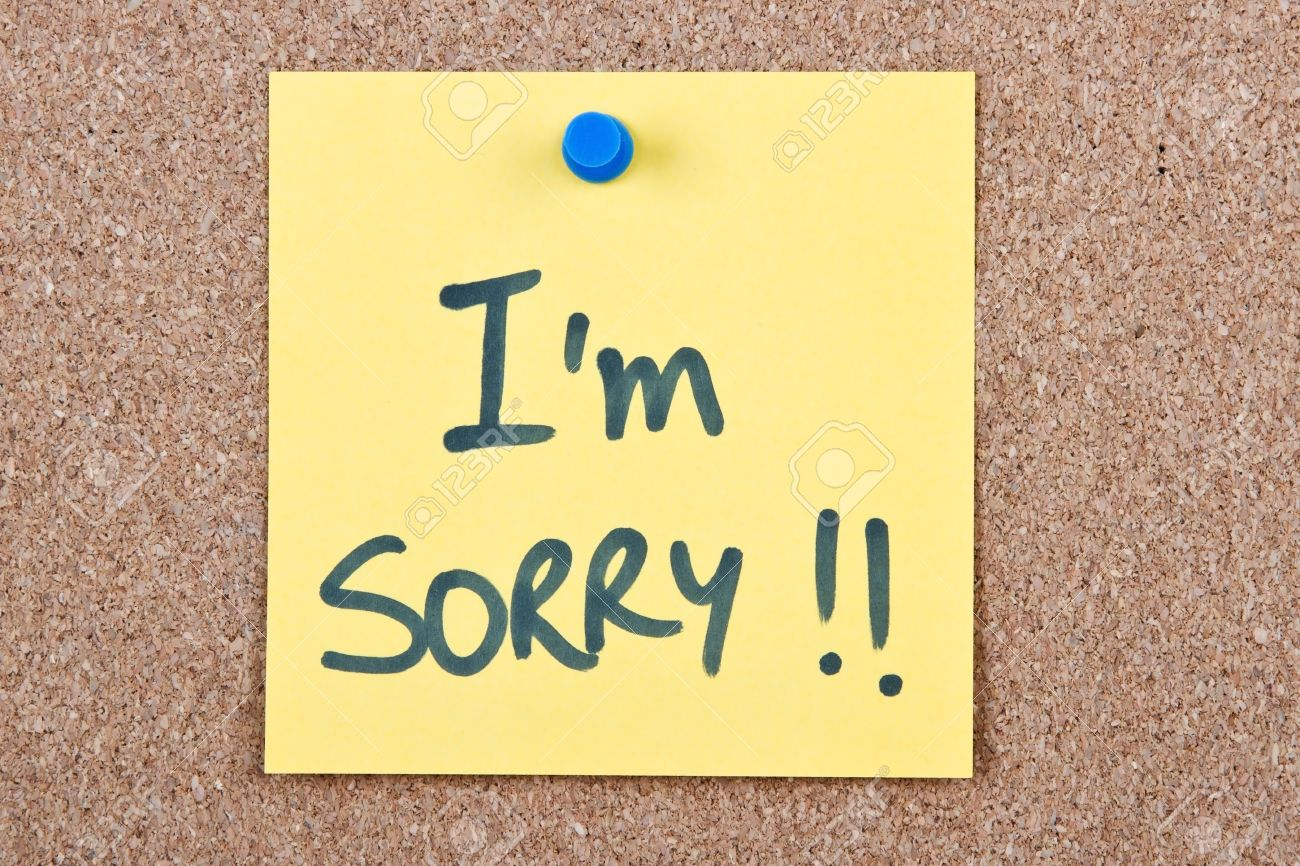 Post it note yellow with im sorry message on cork stock photo post it note yellow with im sorry message on cork stock photo 20821048 altavistaventures Choice Image