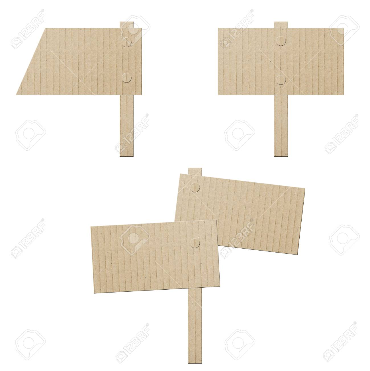 set cardboard banners isolated on white Stock Photo - 9894166