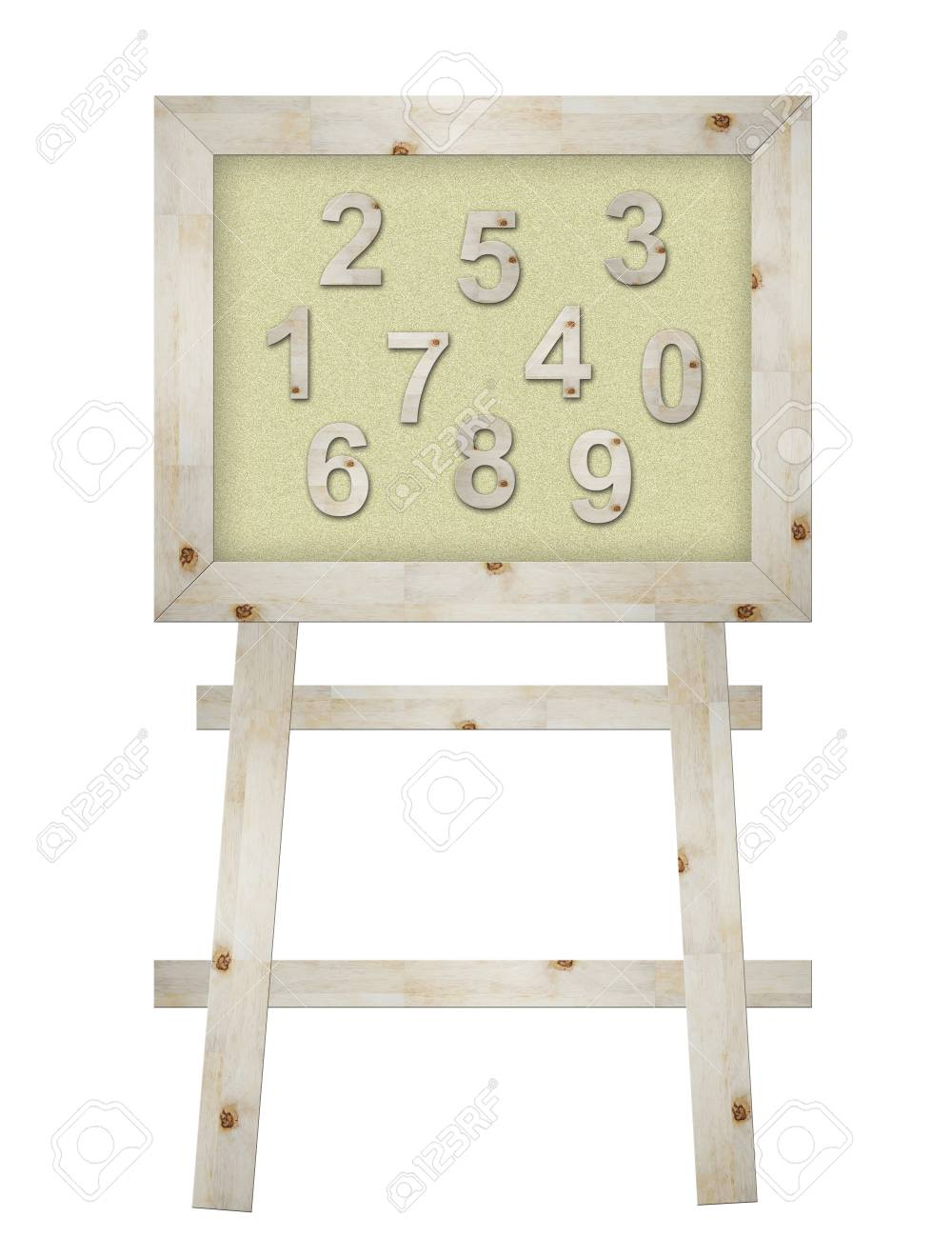wooden number on board isolated Stock Photo - 9894180