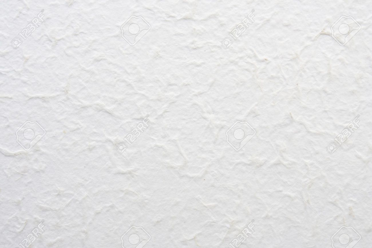 White Handmade Paper Textured Background Stock Photo, Picture And ...
