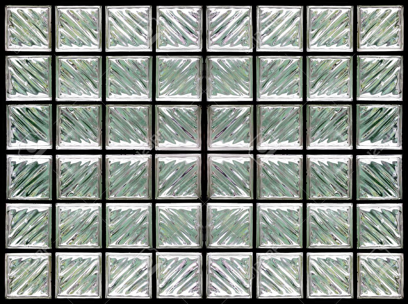 patrn de muro de bloques de vidrio foto de archivo