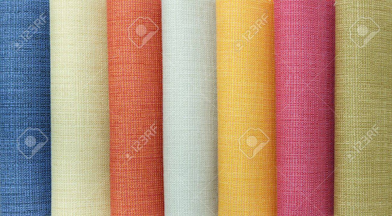 Multi color fabric texture samples Stock Photo - 10960578