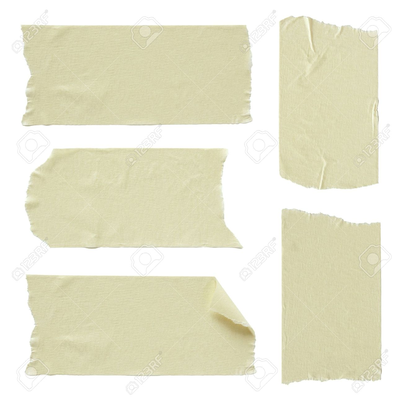 Set Of Torn Masking Tape Isolated On White Stock Photo, Picture And ...