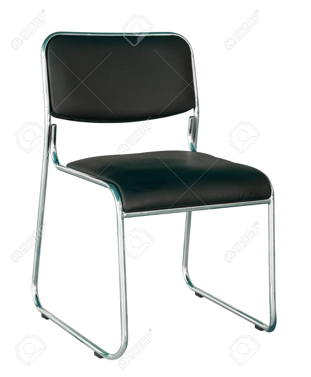 Chaise Moderne Noir Isol Sur Fond Blanc Avec Chemin De Dtourage