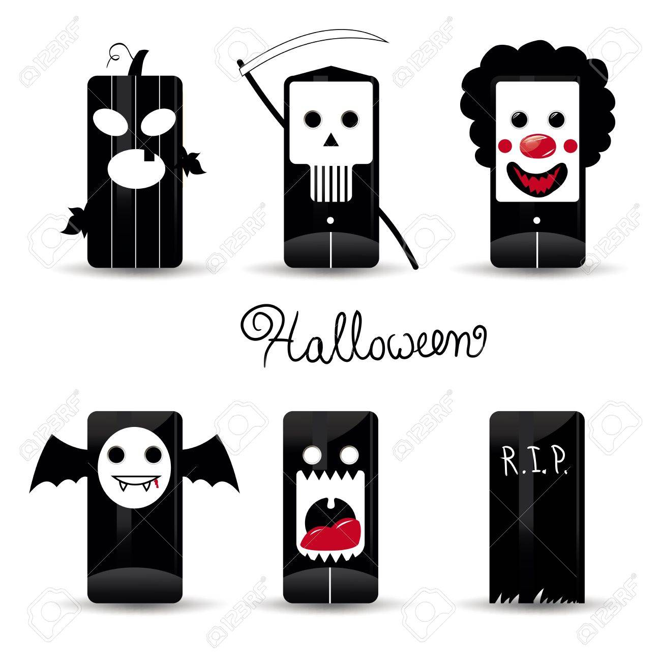 Halloween  icons pack illustration Stock Vector - 10876502