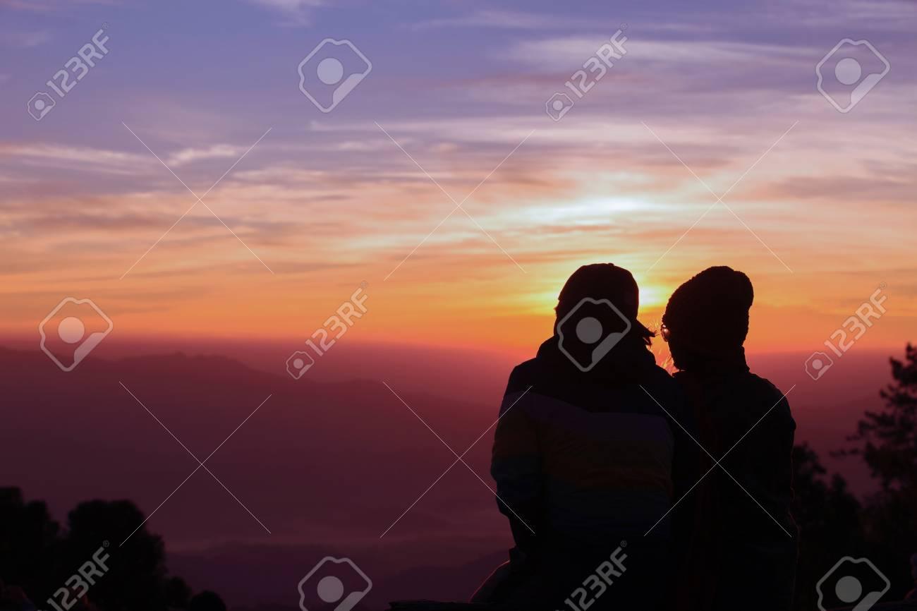 Romance at sunset time - 120393554