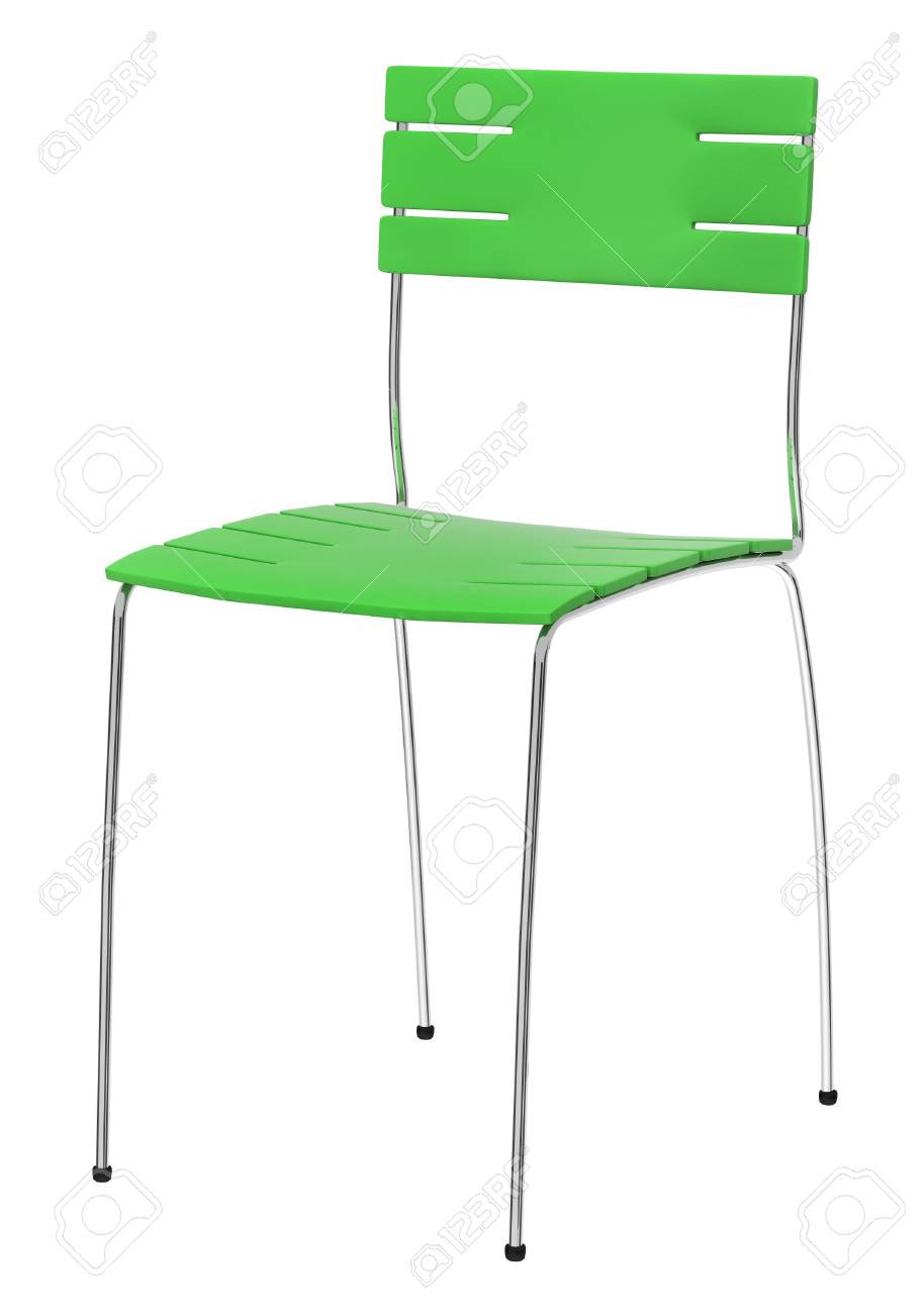 Green chair isolated over white background Stock Photo - 10996202