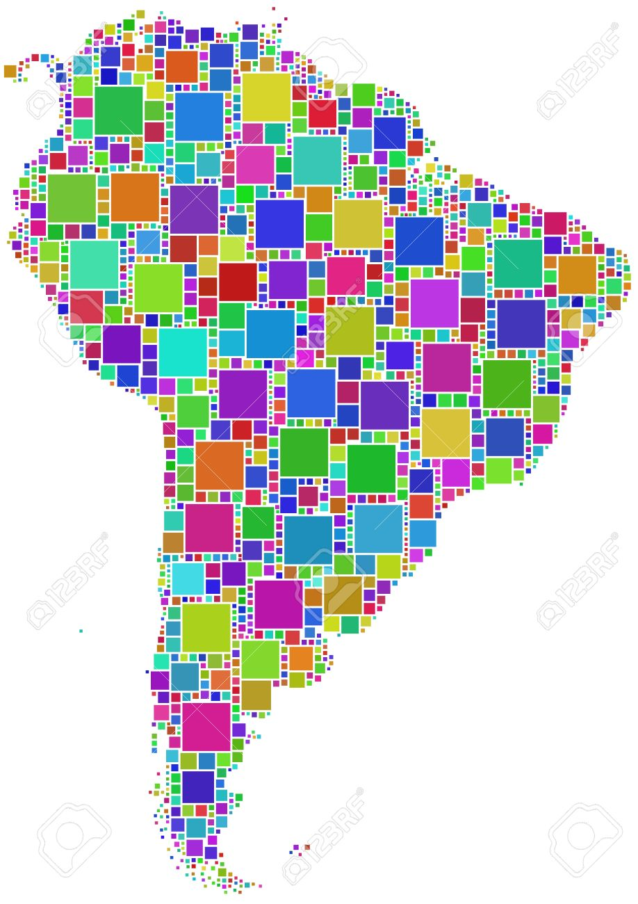 Map Of Latin America Royalty Free Cliparts Vectors And Stock - Map of the latin america