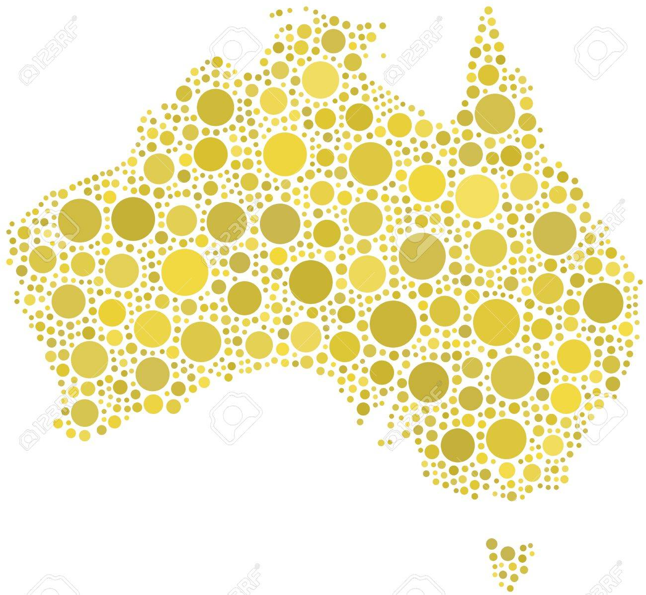 Map of Australia Stock Vector - 6761964