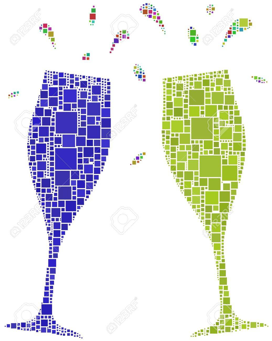Two flutes for a cheers Stock Vector - 6976761