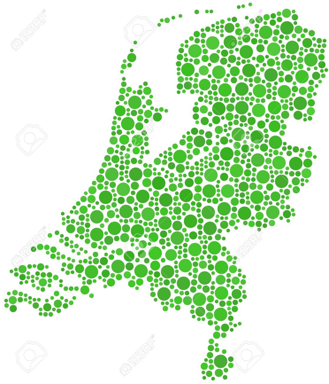 Holland Europe Map.Map Of Holland Europe In A Mosaic Of Circles Royalty Free Cliparts