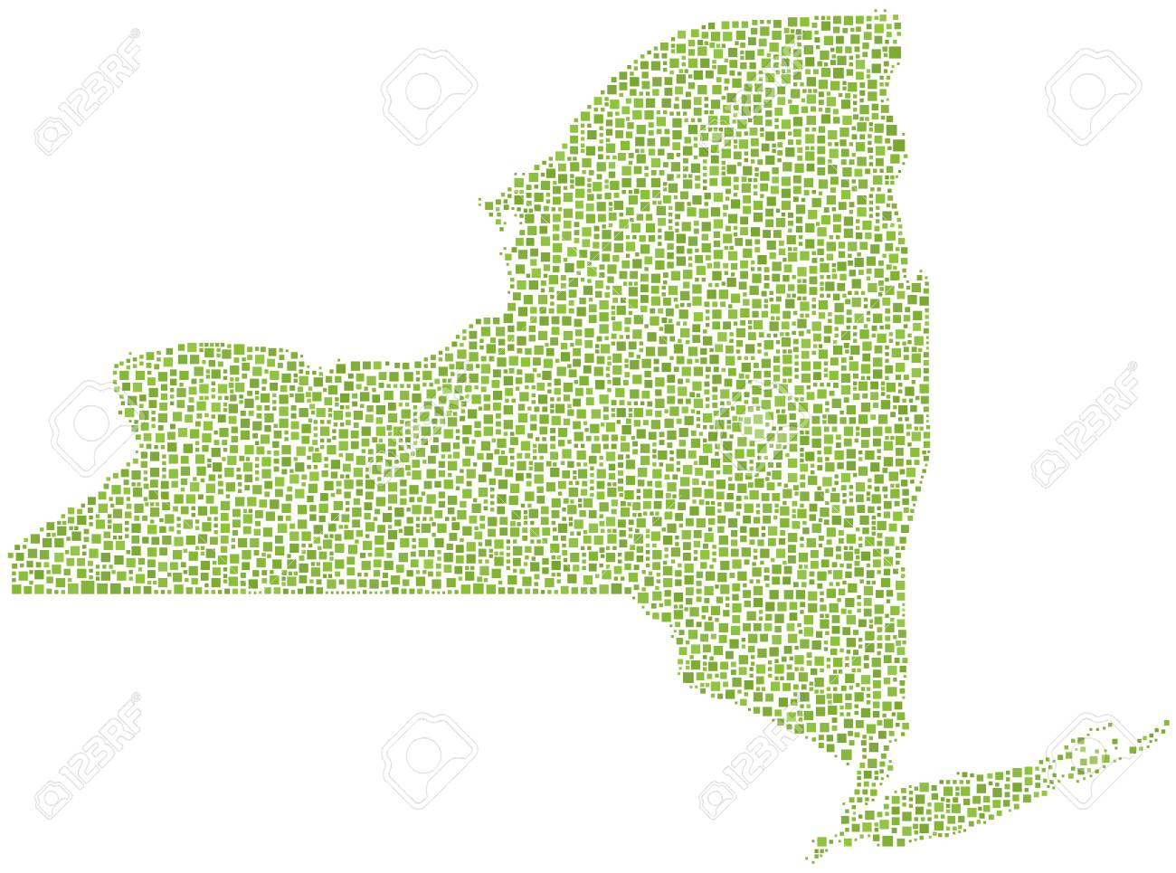 Map of New York State (USA) in a mosaic of small green squares Small Map Of Usa on satellite maps of usa, small new england main street, small printable maps, land grants usa, national capital of usa, small map with roads, small california map, united states maps usa, map from usa, road map usa, russian invasion of usa, small earth map, small new york map, small street map, national animal of usa, national library of usa, national bank of usa, compass of usa, seal of usa, presidential flag of usa,