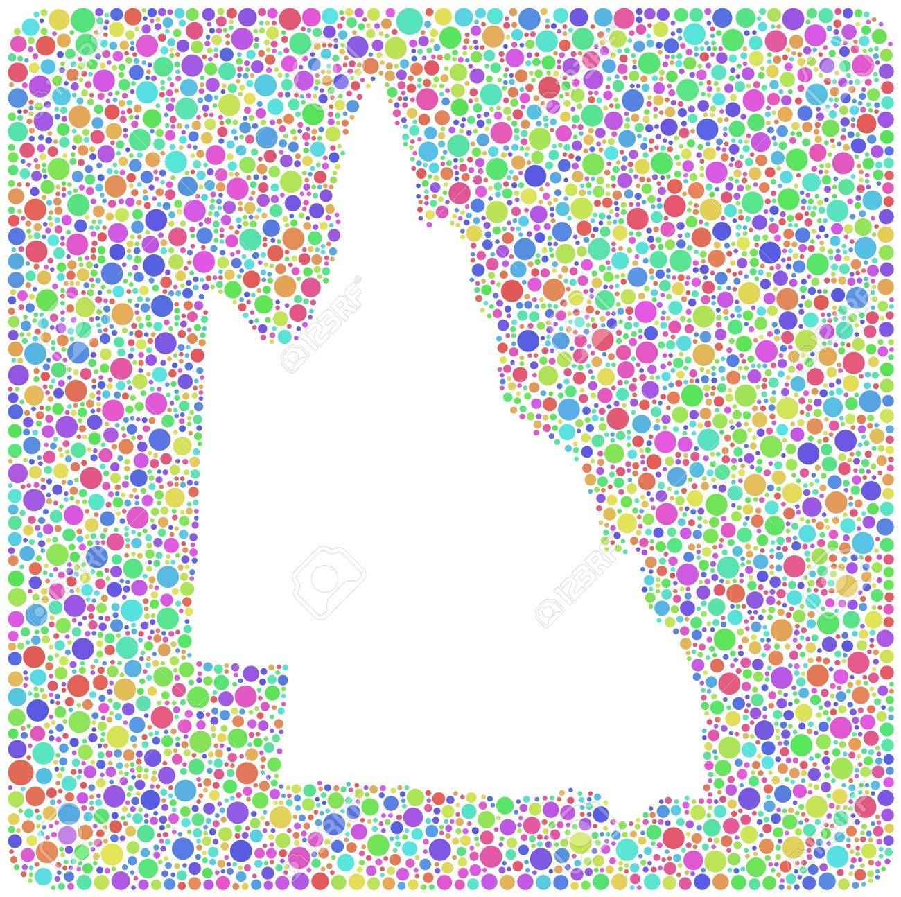 Map Of Queensland Australia.Map Of Queensland Australia Into A Square Icon Mosaic Of