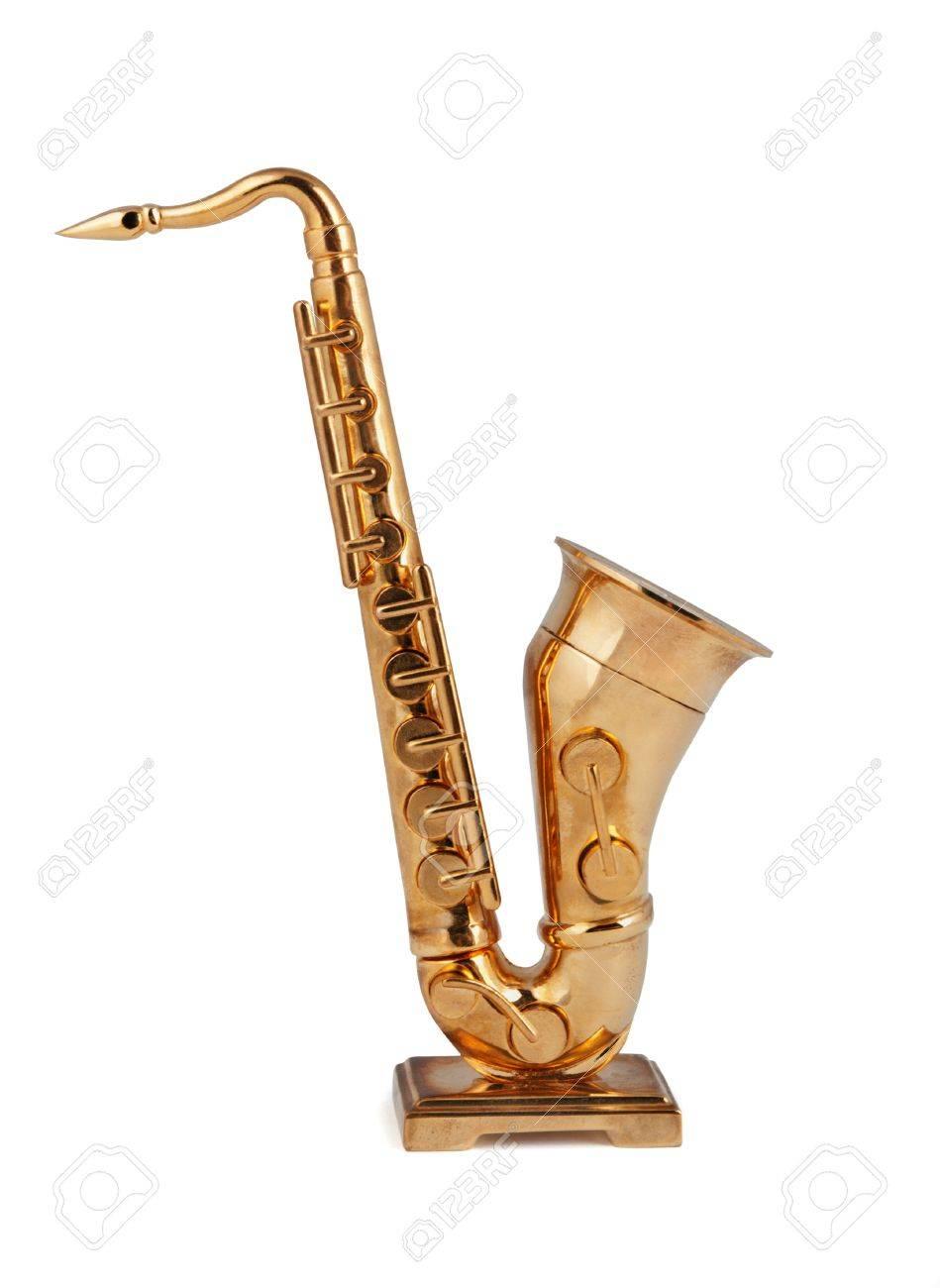 Saxophone figurine on a white background Stock Photo - 16675361