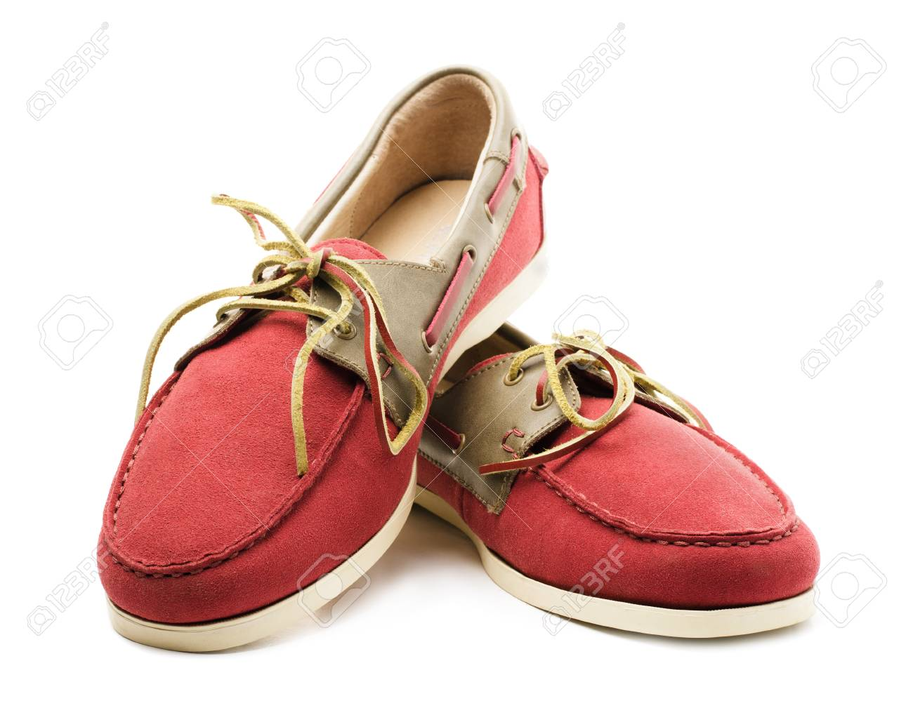 Top Sider Shoes Or Boat Shoes Isolated