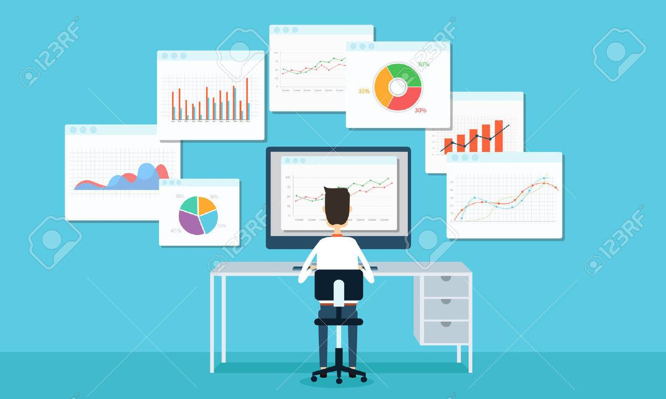 business people analytics business graph and seo on web - 32357697