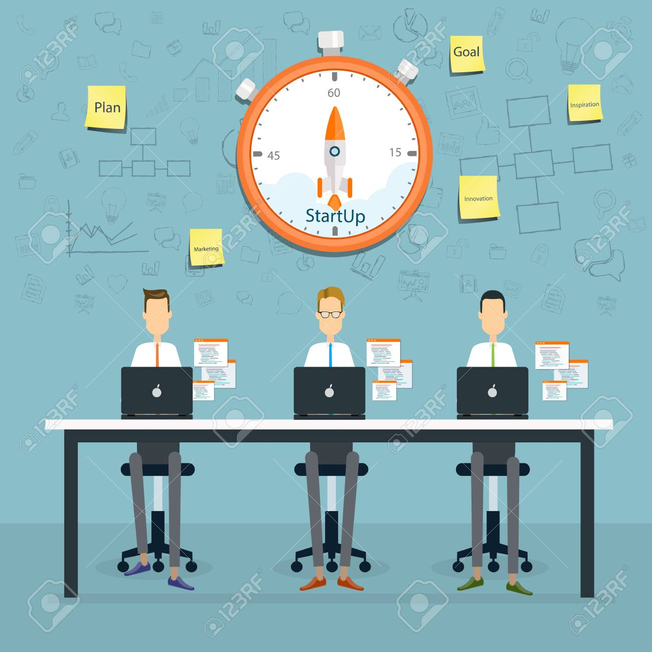 People Business Working Planning And Starup To Business Project ...