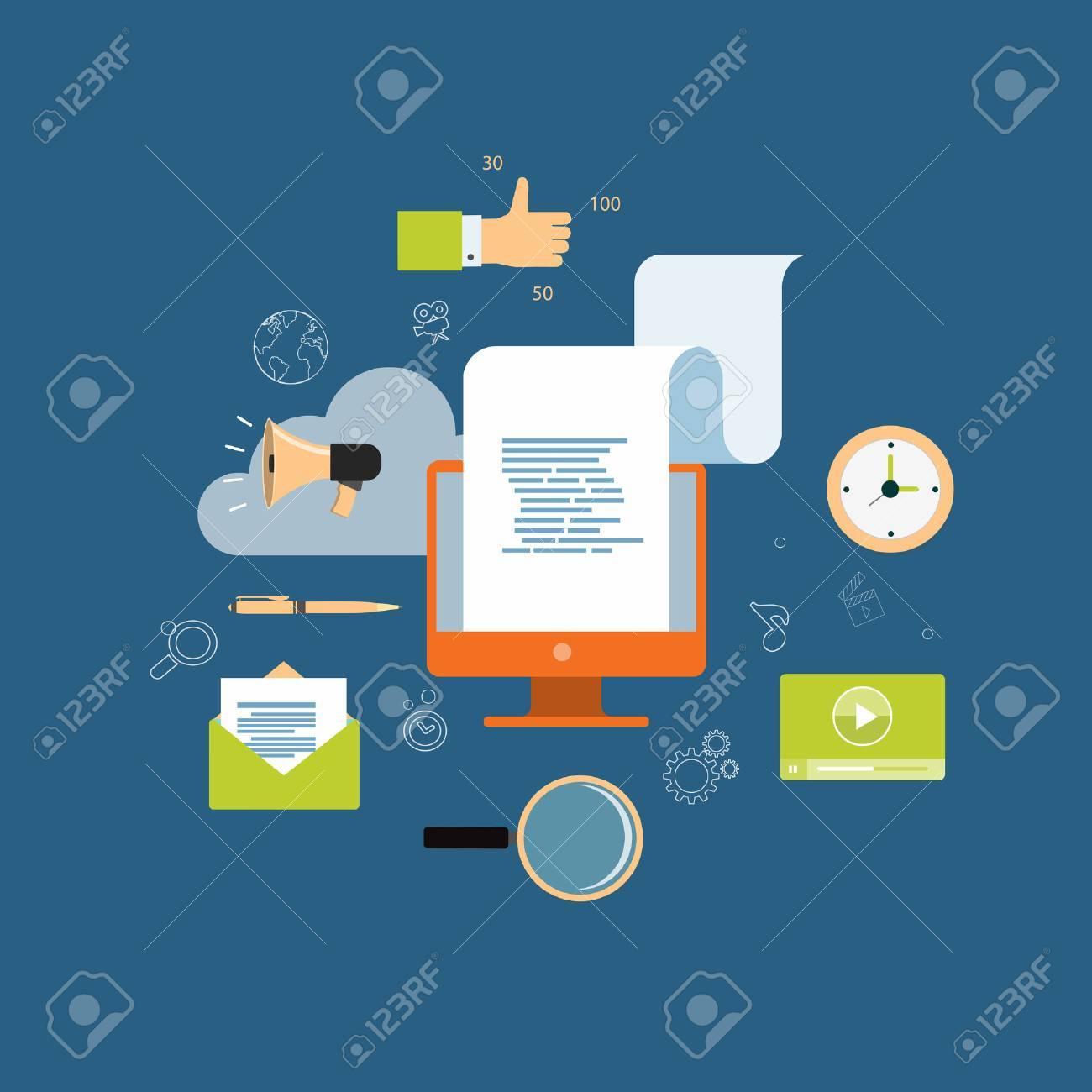 digital content marketing for business online background - 39445383