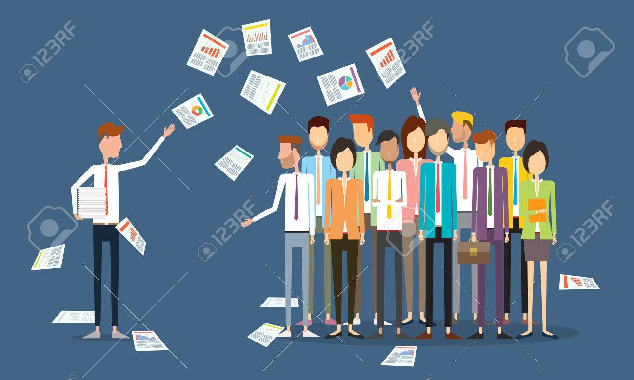 group people business communication Stock Vector - 40555020