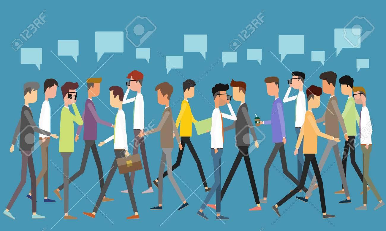 social business communication concept - 40558548