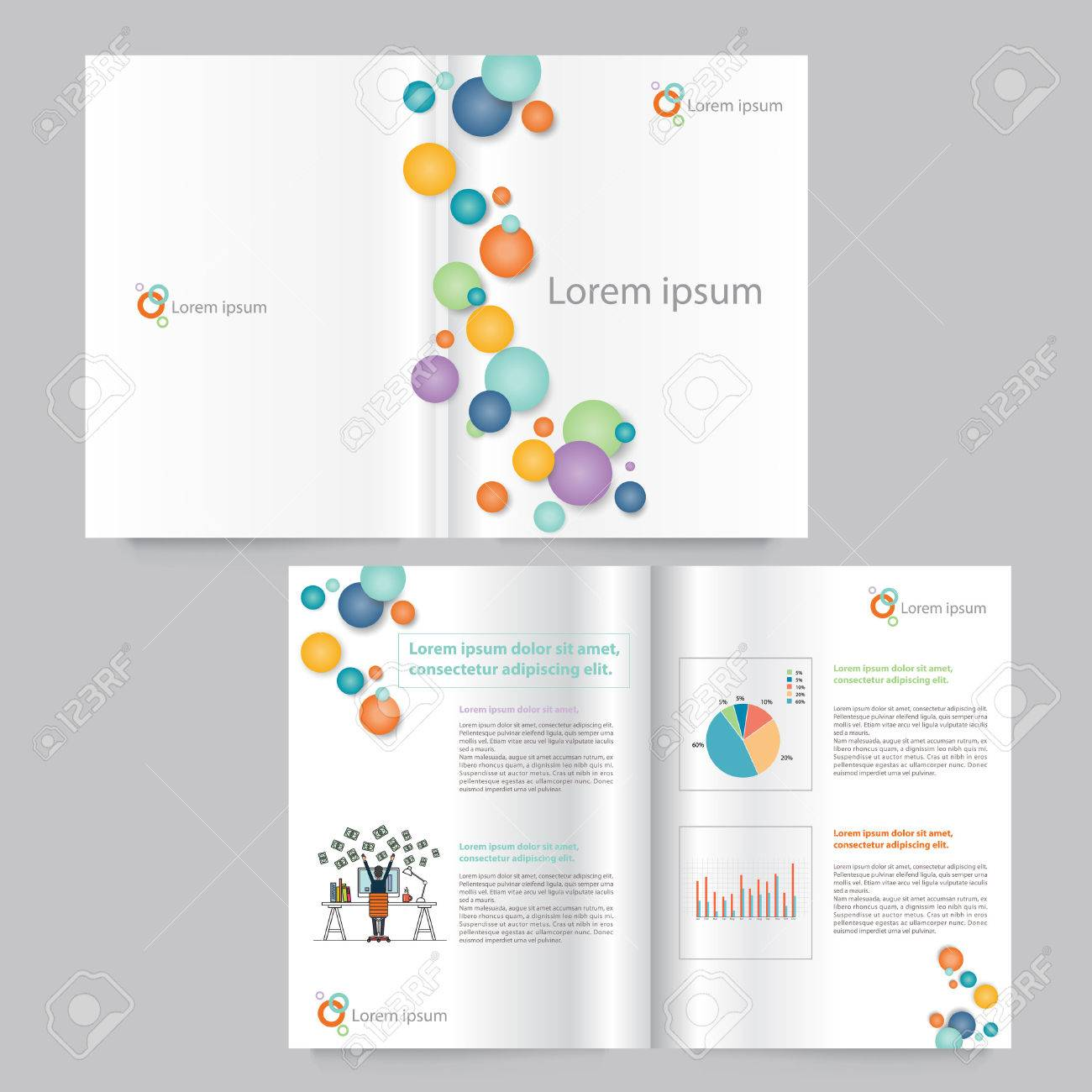 Vector Book And Brochure Layout Template Design Editable - Editable brochure templates
