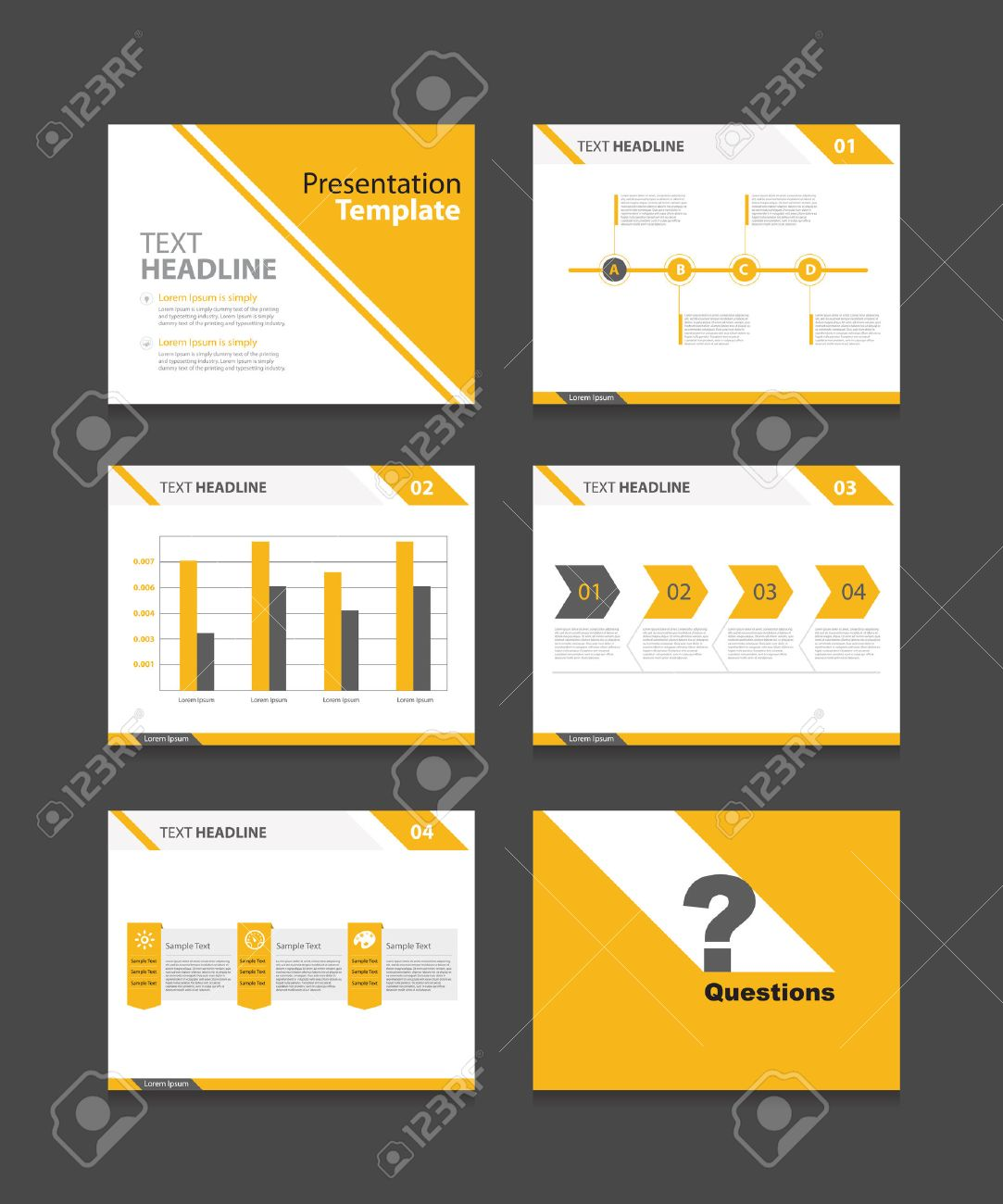 corporate business presentation template set powerpoint template