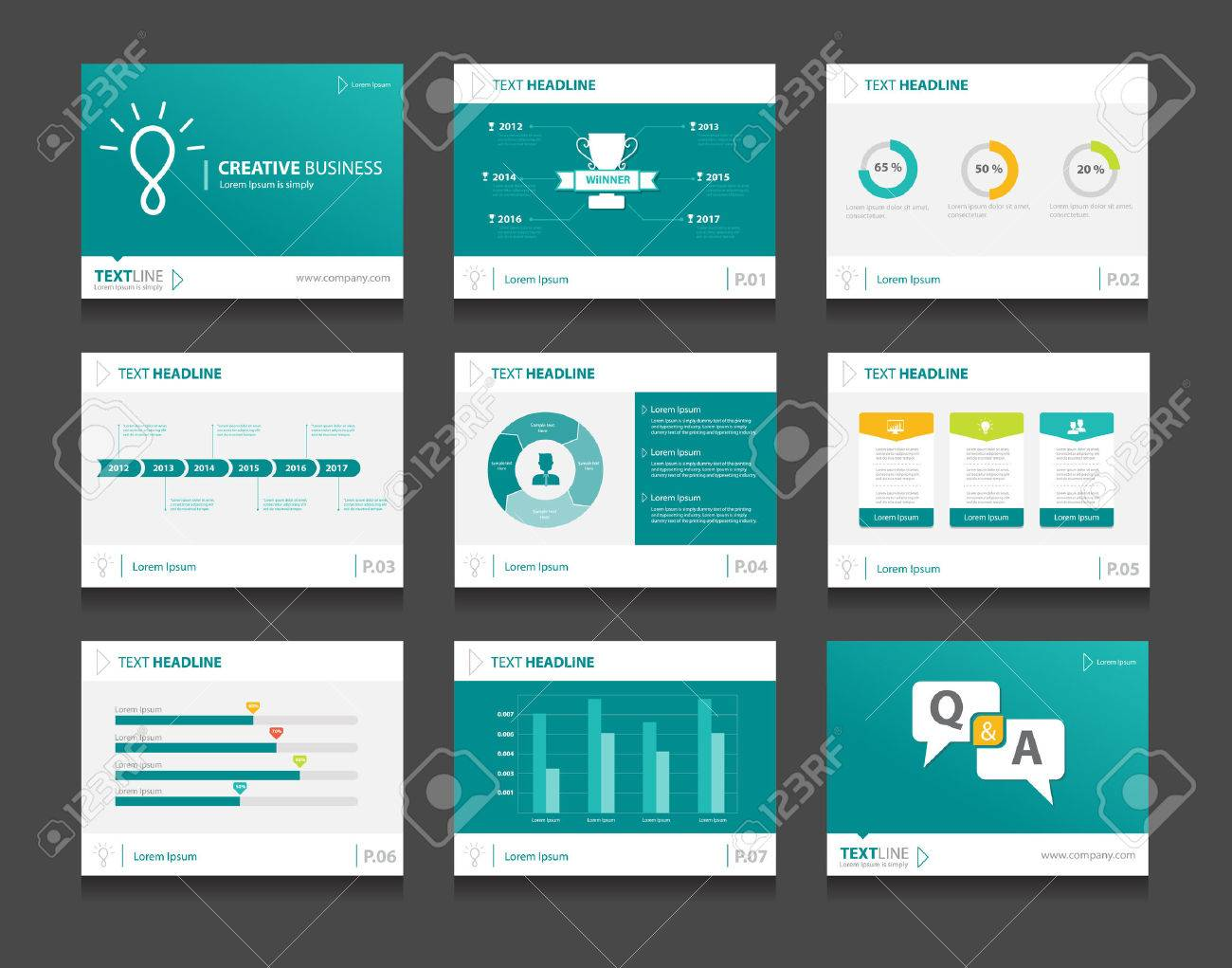 Infographic Business Presentation Template Set.powerpoint Template Design  Backgrounds Stock Vector   43682942