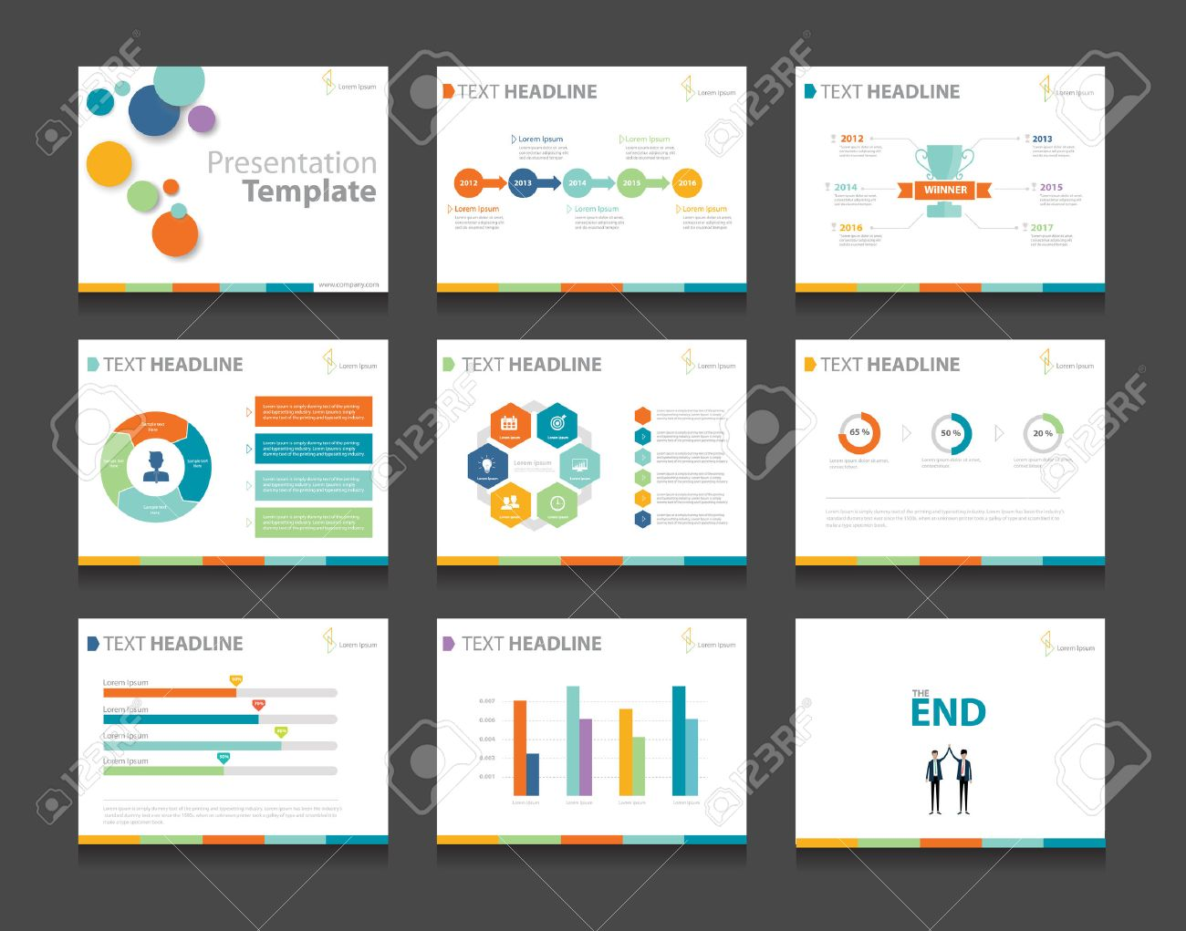 Powerpoint business presentation selowithjo colorful infographic business presentation template set powerpoint fbccfo Image collections