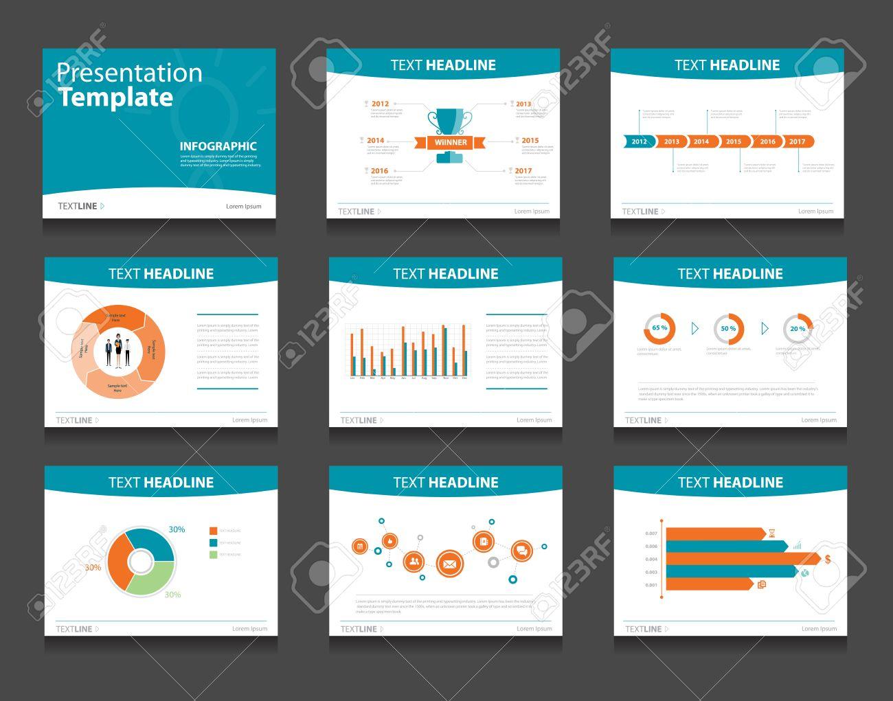Infográficas Plantilla Powerpoint Fondos De Diseño. Conjunto De ...