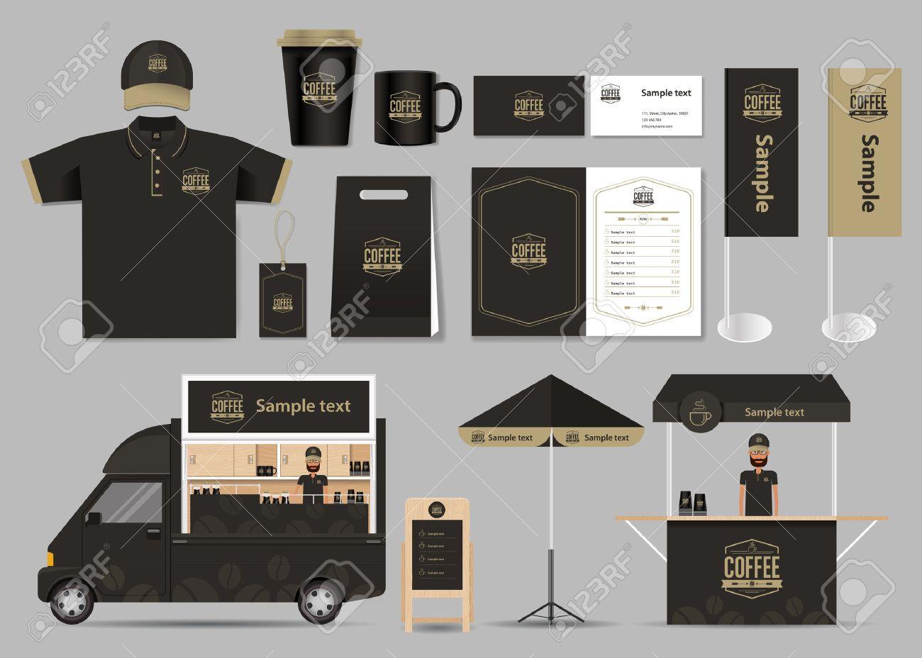 Konzept Für Coffee-Shop Und Restaurant Identität Mock-up-Vorlage ...
