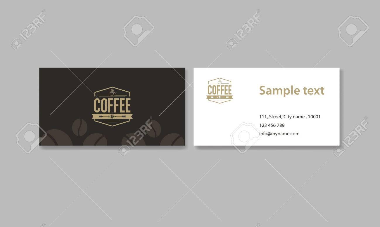 Carte De Visite Pour Un Cafe Et Restaurant Clip Art