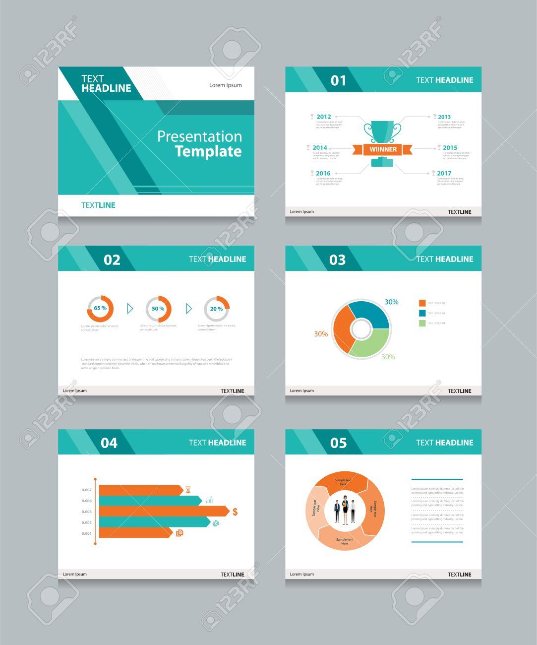 vector template presentation slides background design info graphs