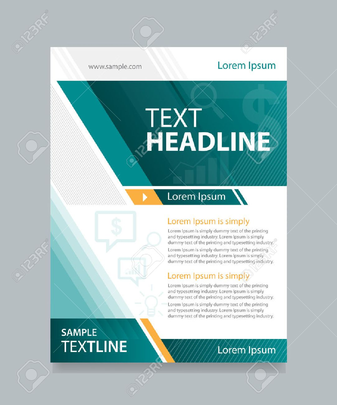 Business Brochure Flyer Design Template Royalty Free Cliparts
