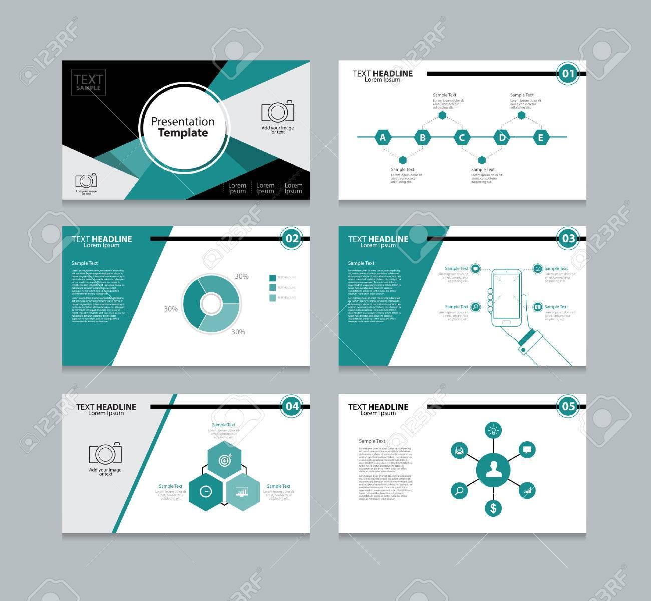 vector template presentation slides background design royalty free