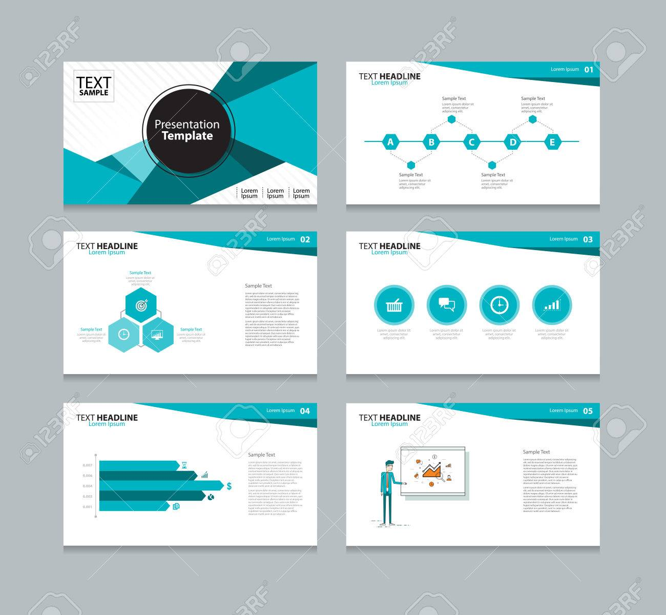 vector template presentation slides background design royalty free