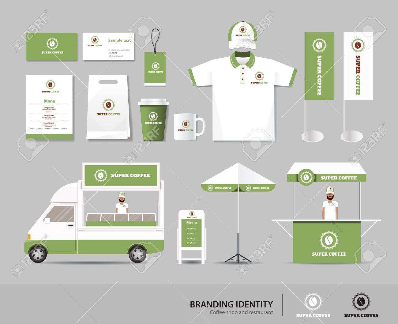 Corporate Branding Identität Up Vorlage Für Coffee-Shop Und ...