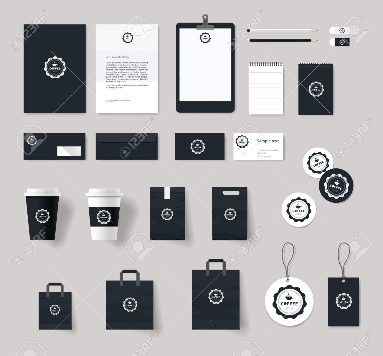 Corporate Branding-Identity-Vorlage Für Coffee-Shop Und Restaurant ...