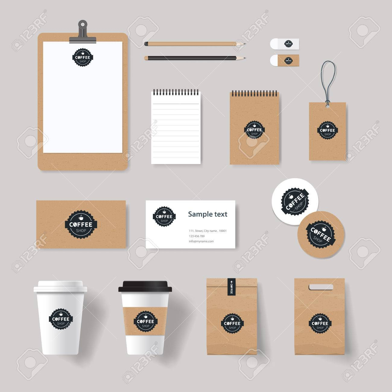 Coffee Shop And Restaurant Branding Identity Mock Up Template ...