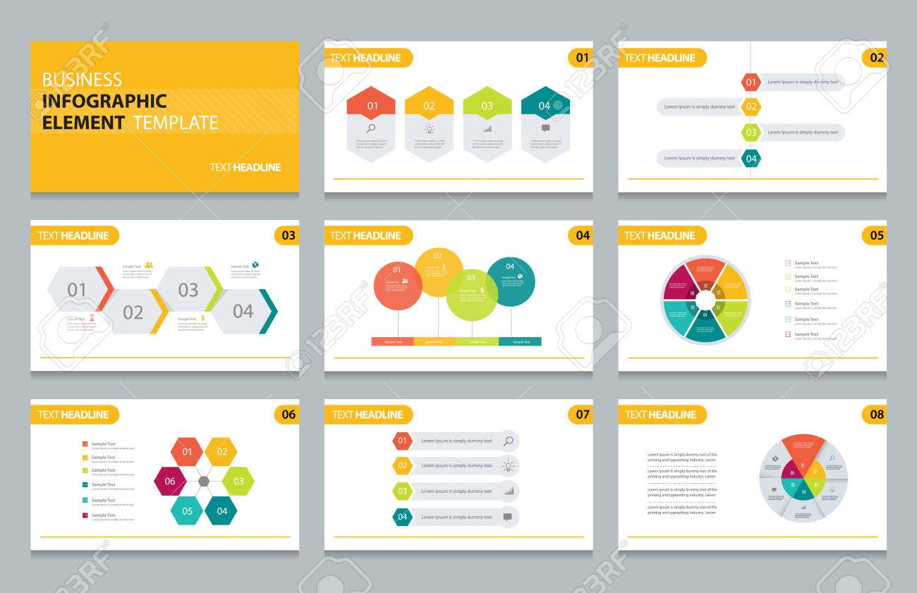 business info graphic presentation element template royalty free
