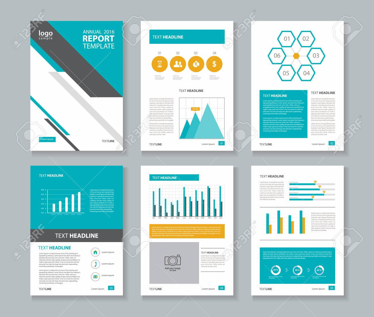 annual report layout template royalty free cliparts vectors and
