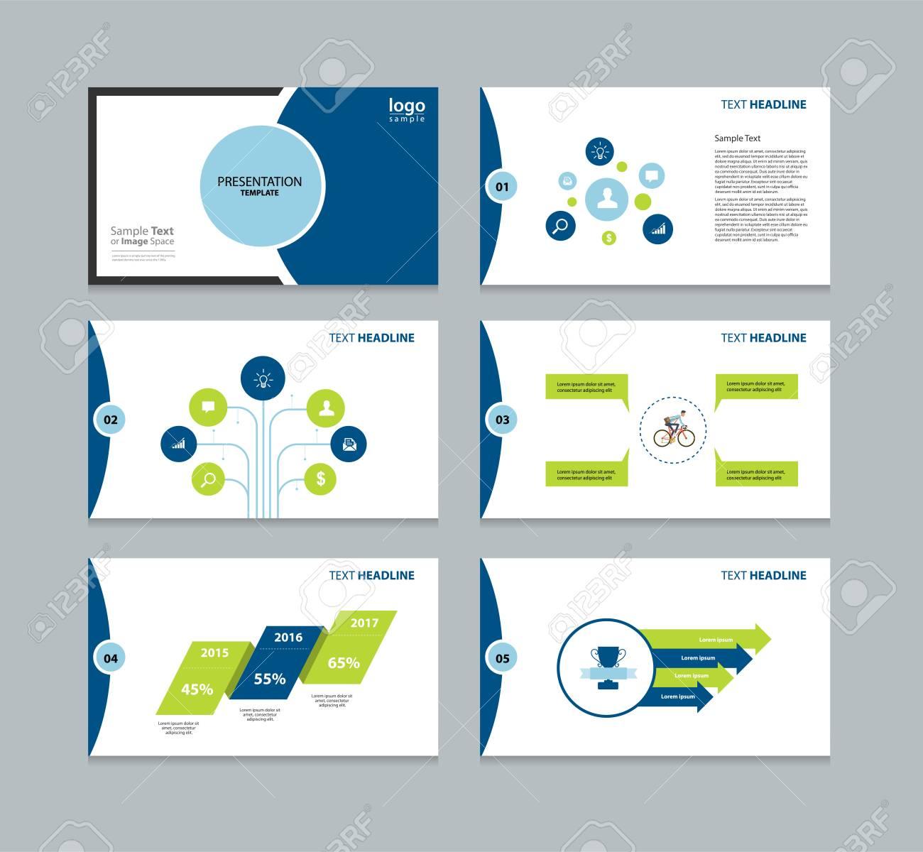 Presentation Template Fo Graphic Element Design Template For