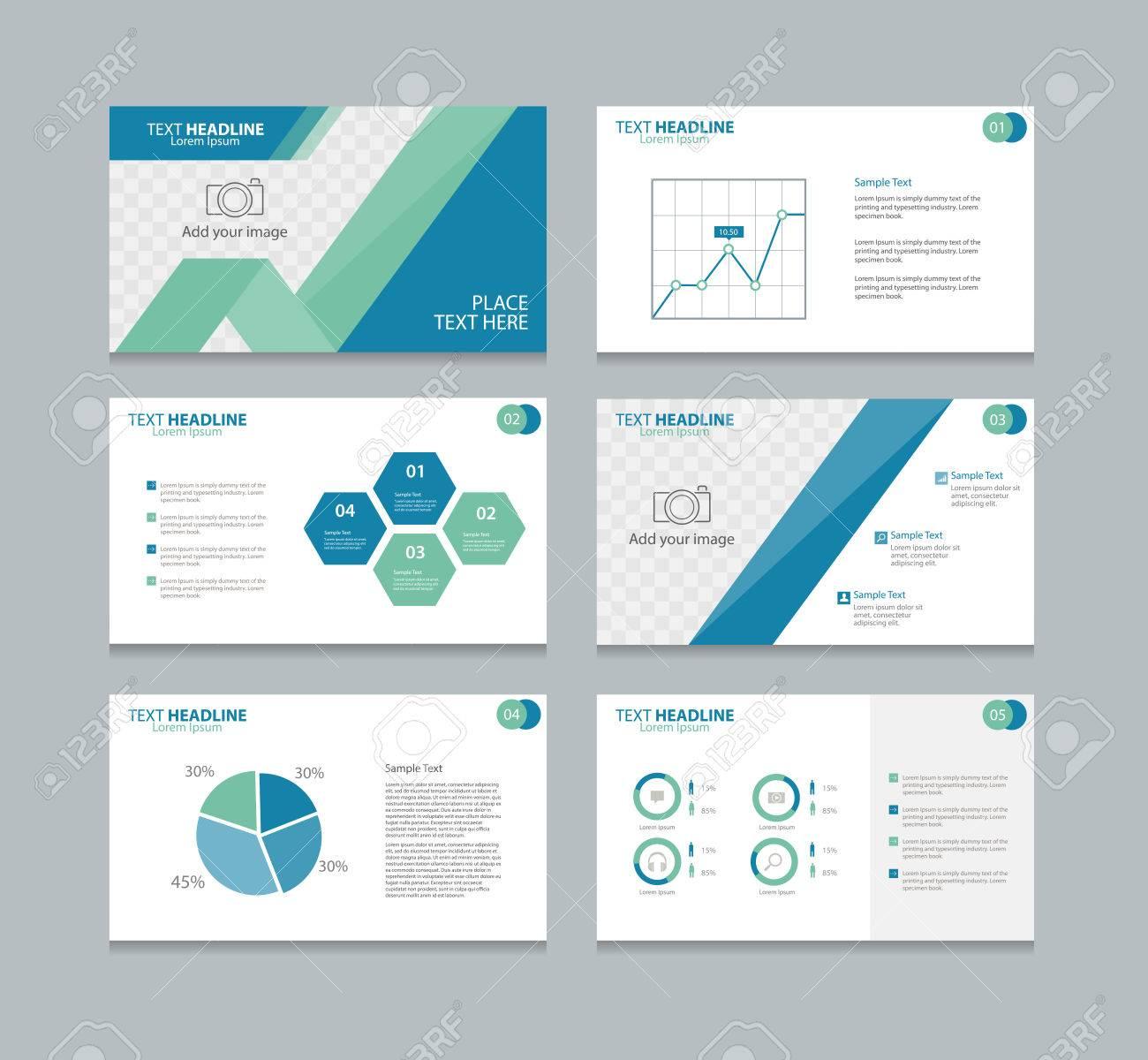 Seitenlayout-Design-Vorlage Für Die Präsentation Und Broschüre ...