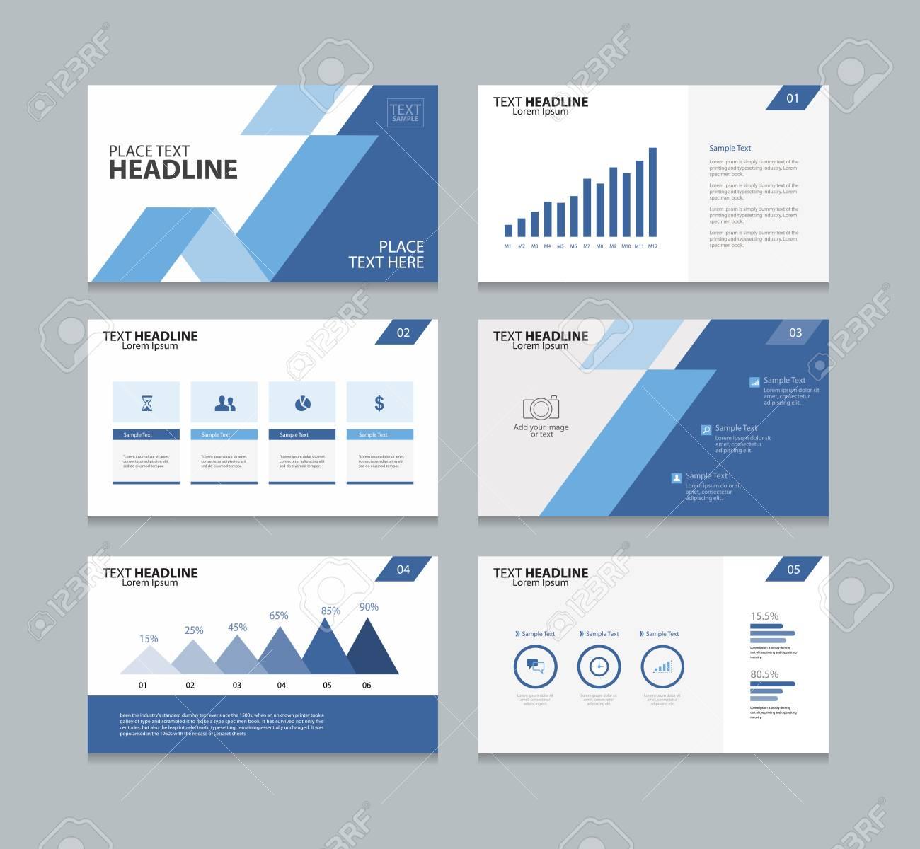 Diseño De La Plantilla De Diseño De Página Para La Presentación Y El ...