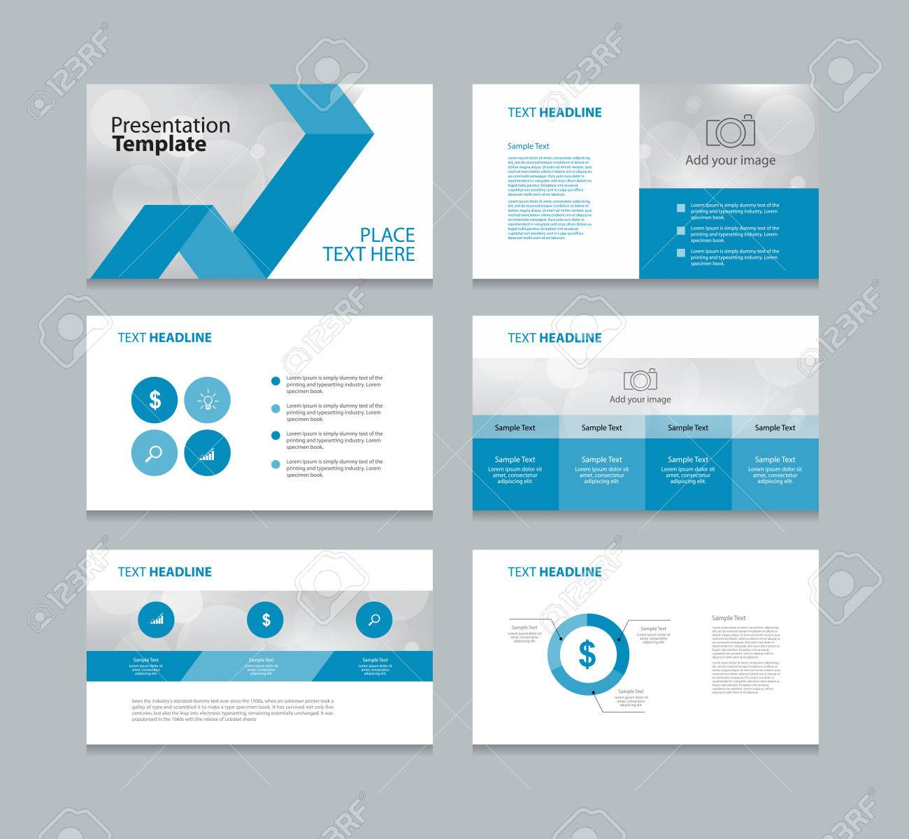 abstract page layout design template for presentation and brochure